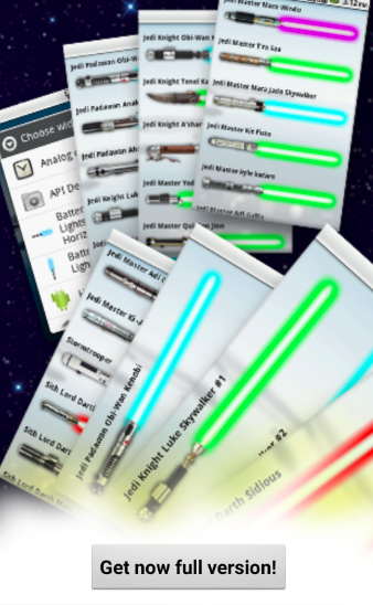 Android Lightsaber Screen 1