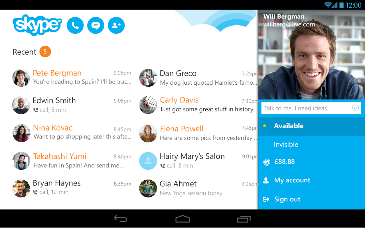 Android Skype Screen 11