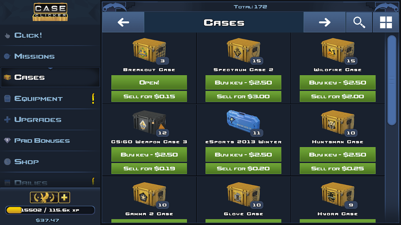 Case Clicker 2 - Custom cases! 2.4.1a Screen 5