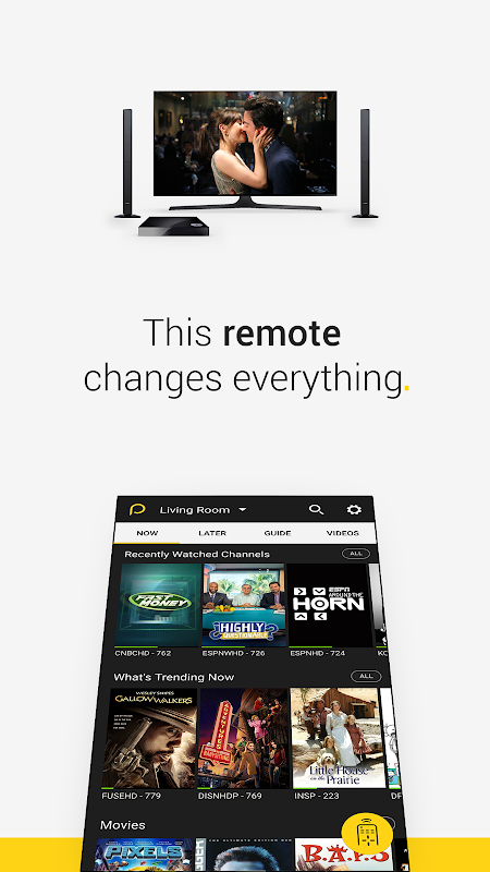 Android Peel Smart Remote TV Guide Screen 4