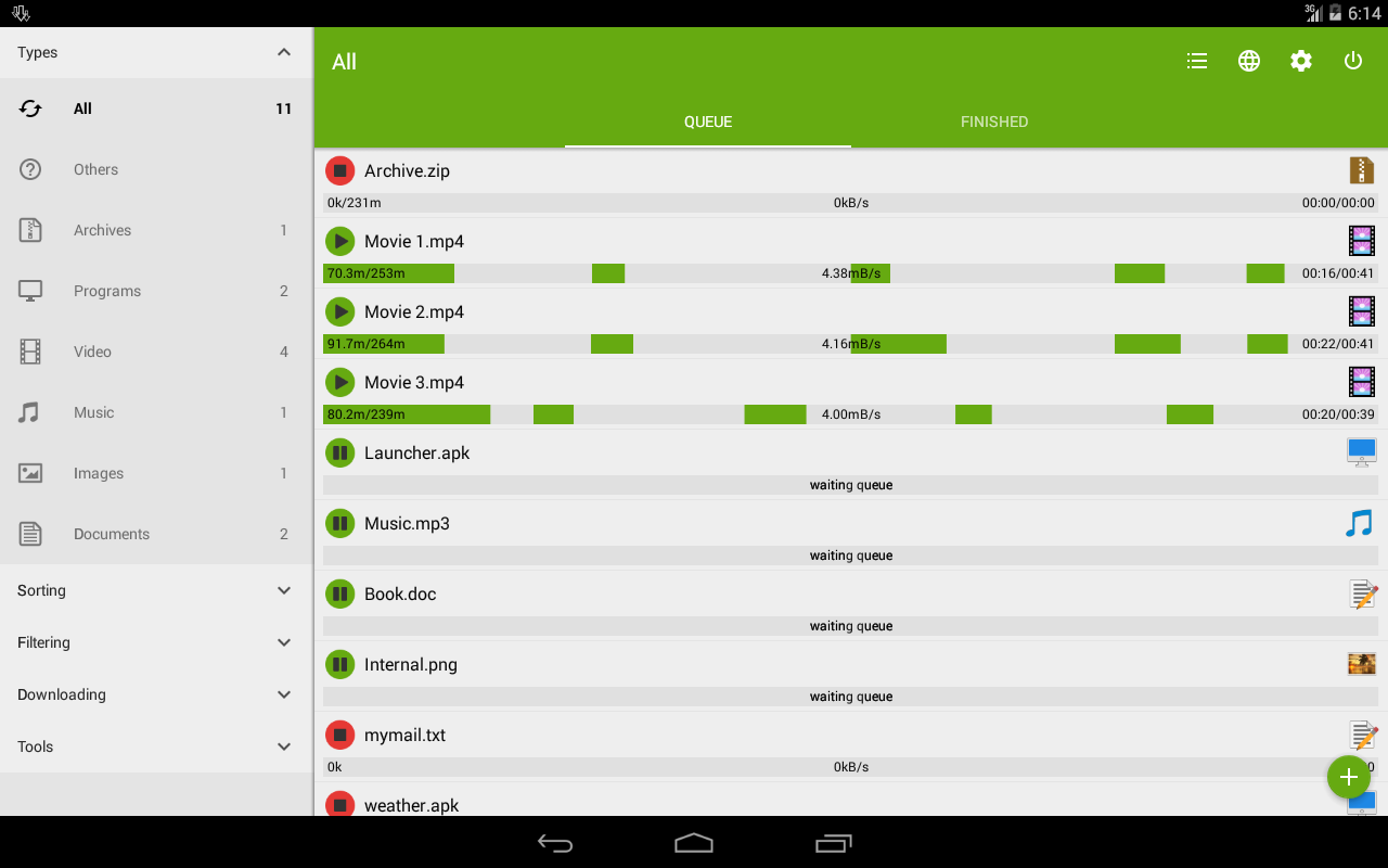 Advanced Download Manager 7.3.4 Screen 1