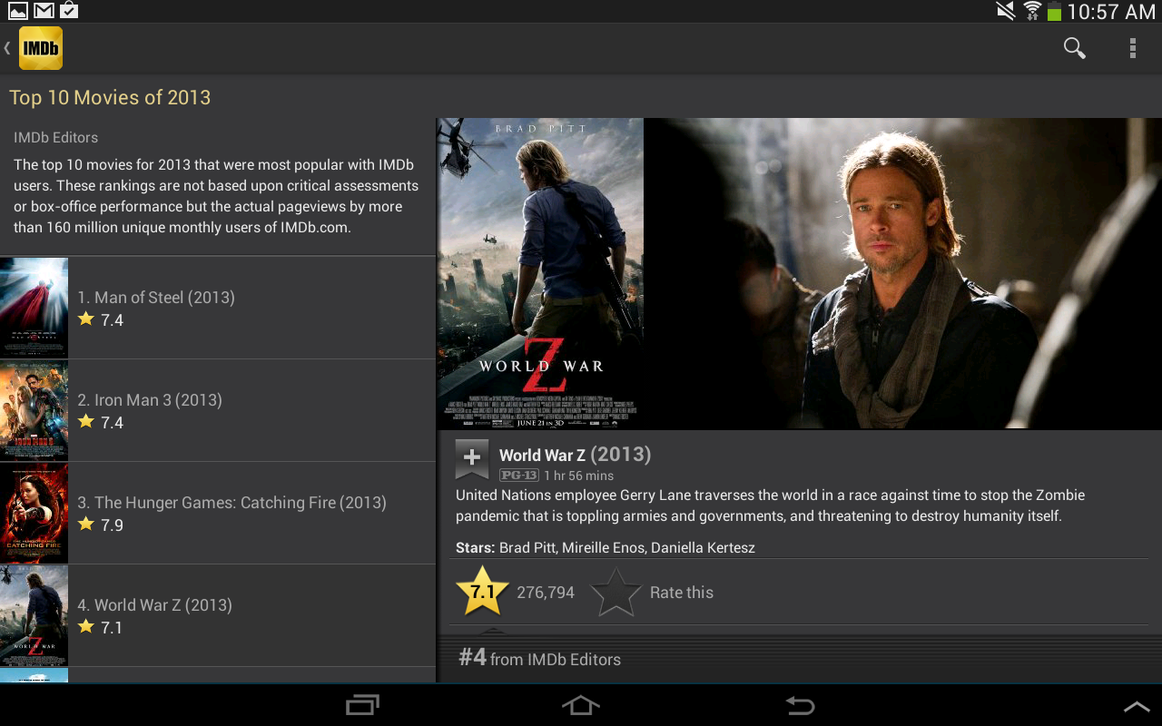 Android IMDb Movies & TV Screen 2