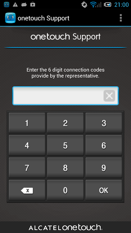 ONE TOUCH Support 1.0.71.1 (Build 79) Screen 2