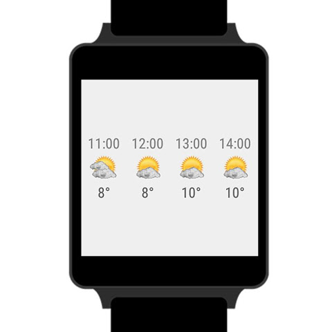 Android Transparent clock weather Premium Screen 5