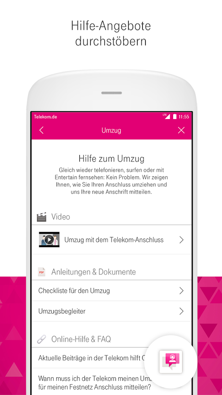 Android MagentaSERVICE Screen 5