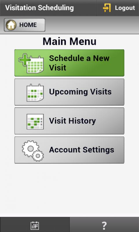 Android VisMobile - RegisterSchedule Screen 1