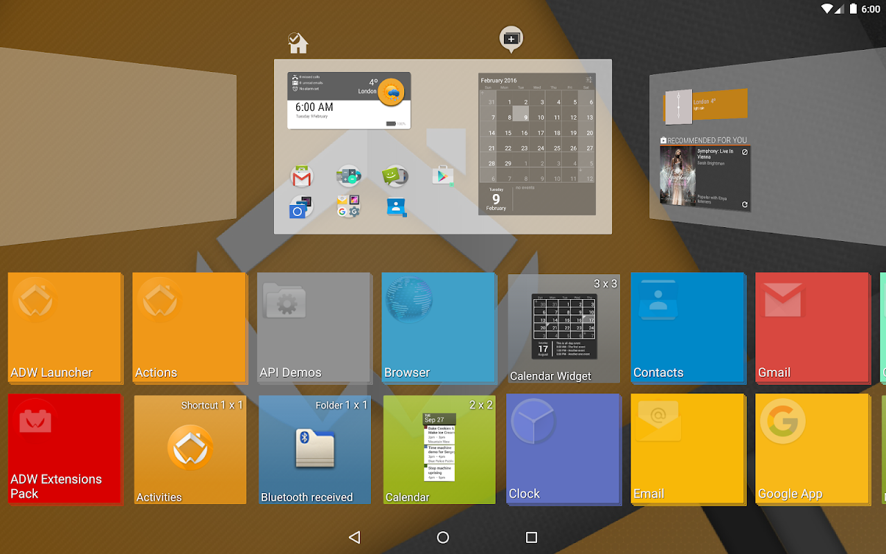 Android ADW Launcher 2 Screen 9