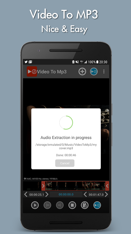 Android Video to mp3 Screen 4