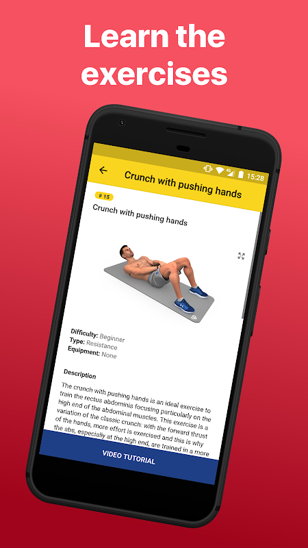 Android Abs Workout - Daily Fitness Screen 6