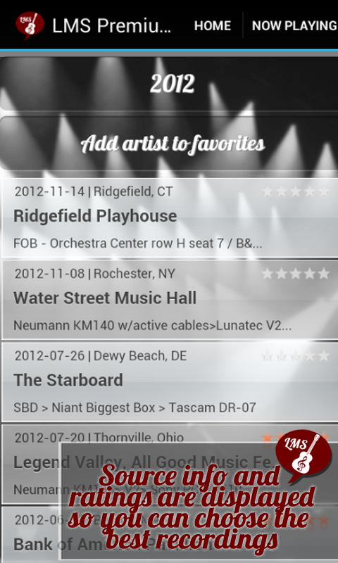 Android Live Music Streamer Screen 4