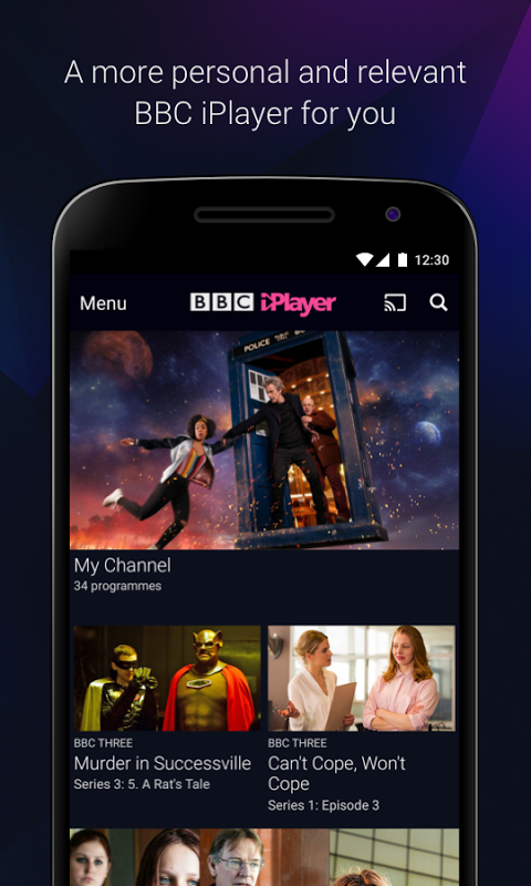 BBC iPlayer 4.38.0.3 Screen 1