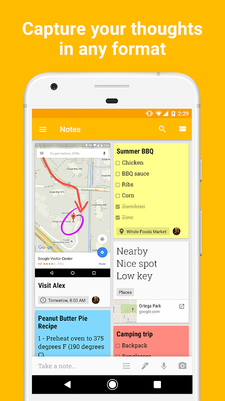 Android Google Keep - notes and lists Screen 4