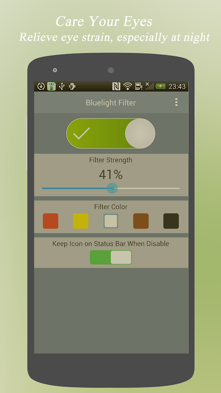 Android Bluelight Filter - Eye Care Screen 1