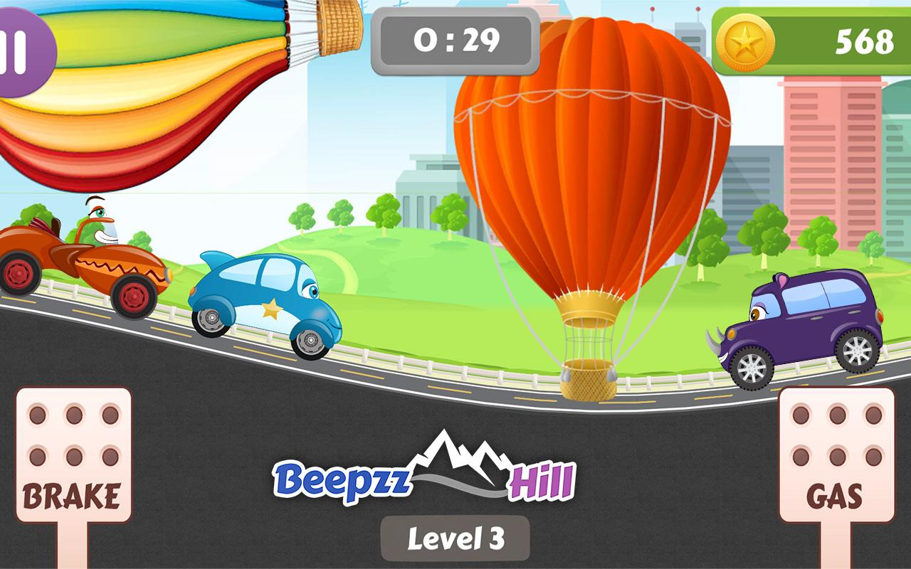 Beepzz Hill - racing game for kids 1.0.5 Screen 1