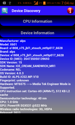 Android Device Discovery Screen 3