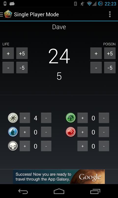 Android Magic Life Counter Screen 1