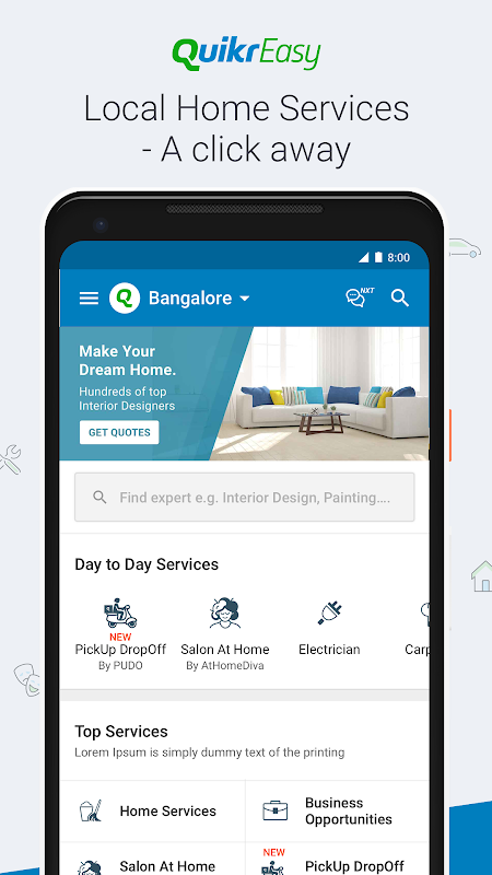 Android Quikr – Search Jobs, Mobiles, Cars, Home Services Screen 2