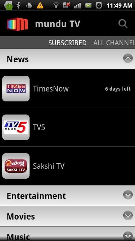 Mundu TV- Mobile TV, Live TV APKs   Android APK