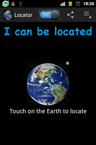 Android Locator Screen 1