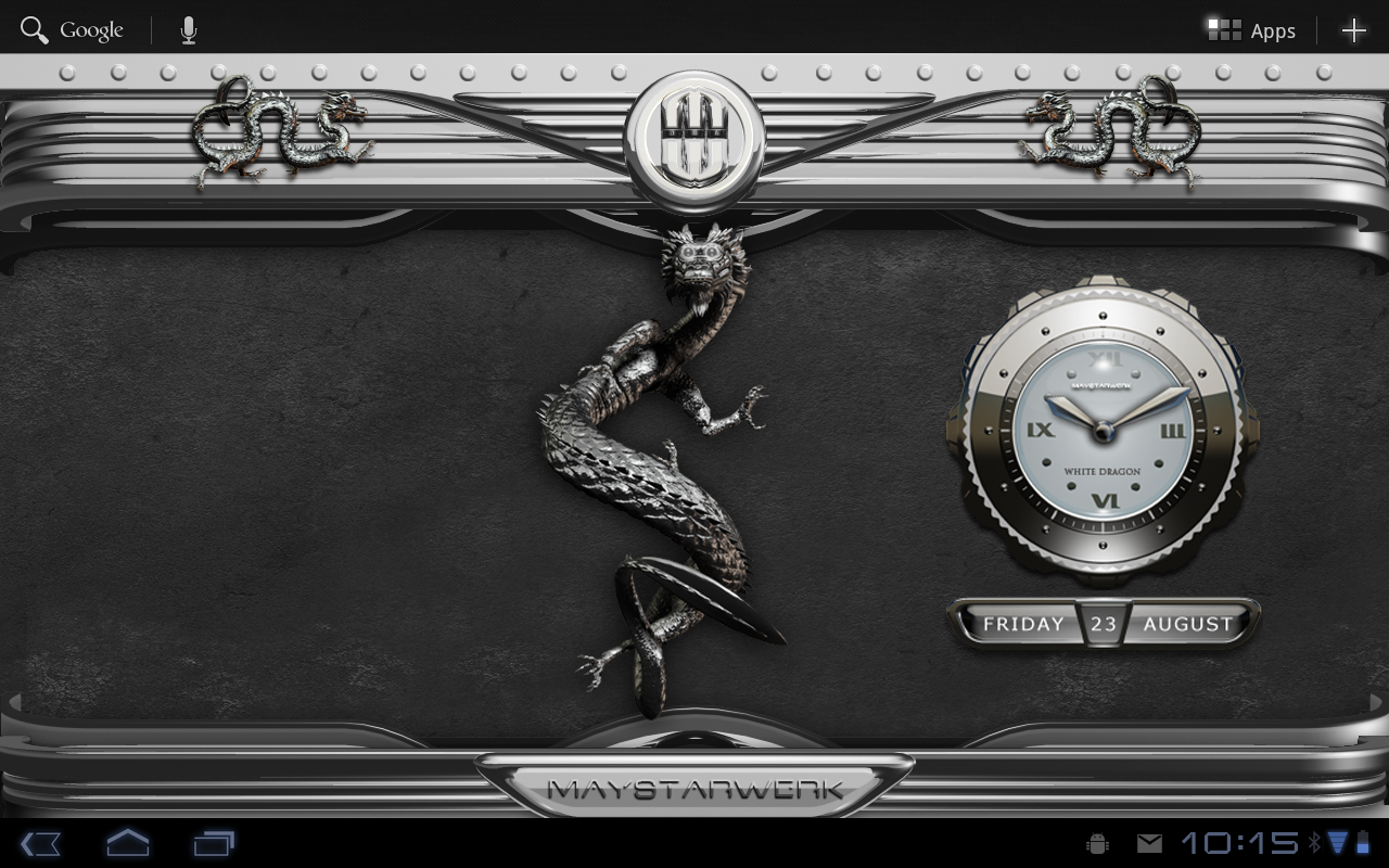 Android Dragon Clock Widget white Screen 7