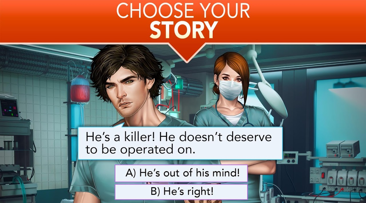 Android Is it Love? Blue Swan Hospital - Choose your story Screen 2