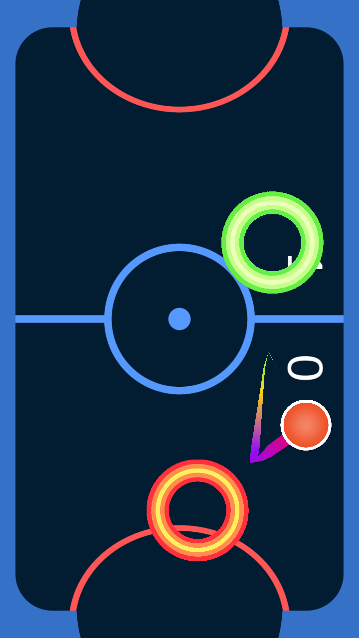 Android Glow Air Hockey Screen 1