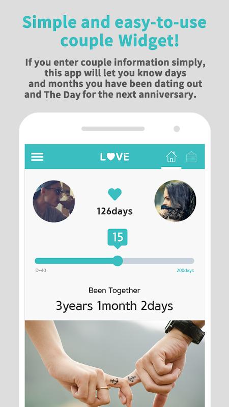 Couple Widget - Love days Countdown 2.0.1 Screen 1