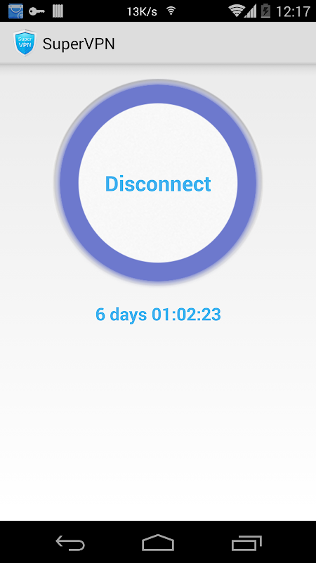 Android SuperVPN Free VPN Client Screen 2