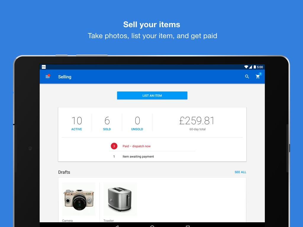 Android eBay - Buy, Sell & Save Money Screen 3