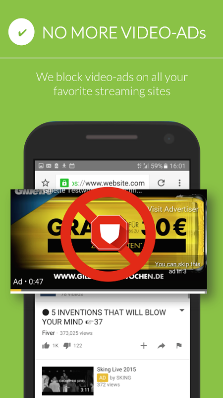 Free Adblocker Browser 54.0.2016122987 Screen 1