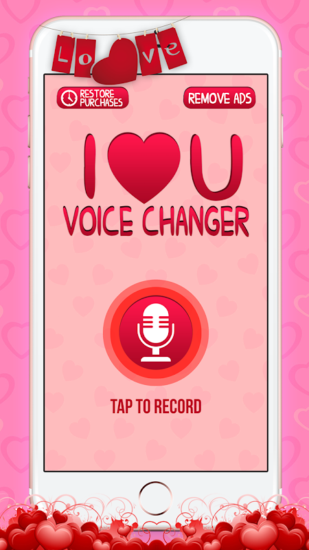 Love Voice Changer Recorder 2.0 Screen 2
