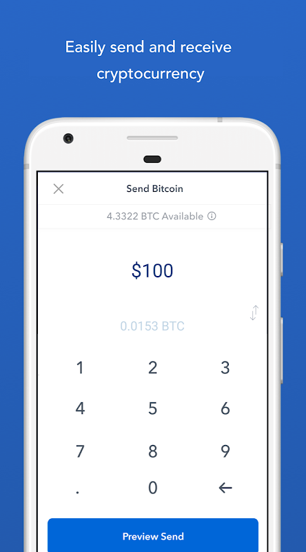 Android Bitcoin Wallet - Coinbase® Screen 3