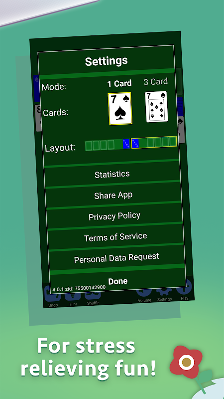Solitaire 4.2.1 Screen 1