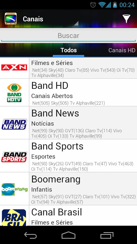 Android TV Guide BR Screen 3