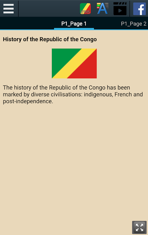 Android History of the Republic of the Congo Screen 1