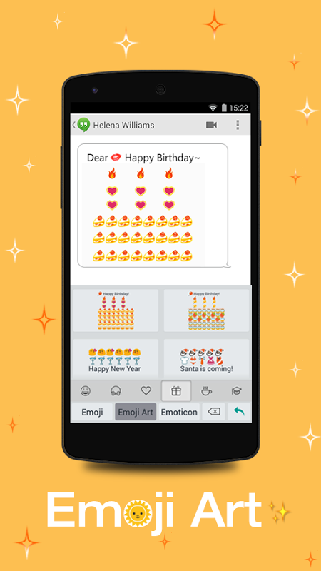 Android TouchPal Emoji - Color Smiley Screen 1