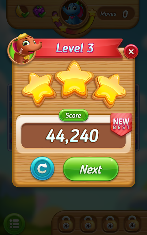 Android Fruits Mania : Elly's travel Screen 4