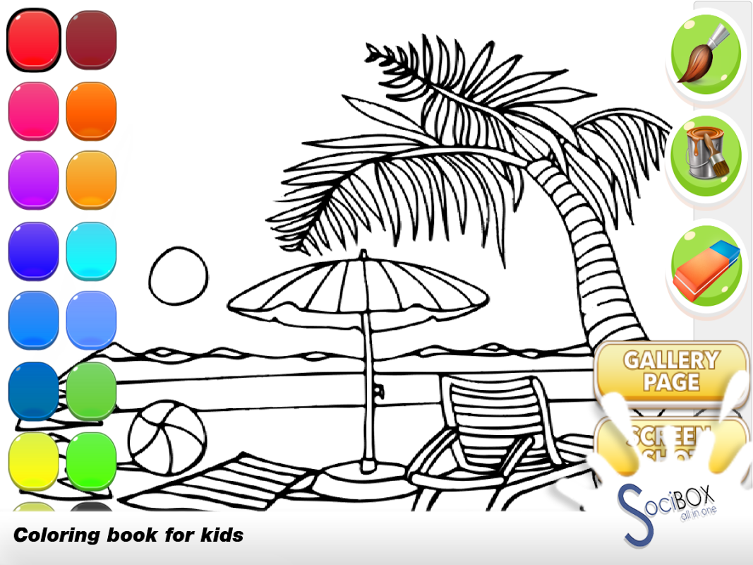 Android sea view coloring book Screen 6
