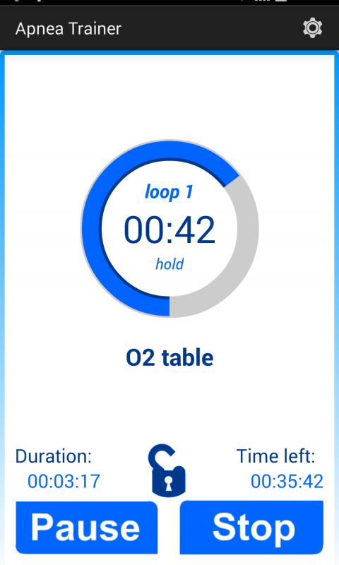 Android Apnea Trainer Screen 2