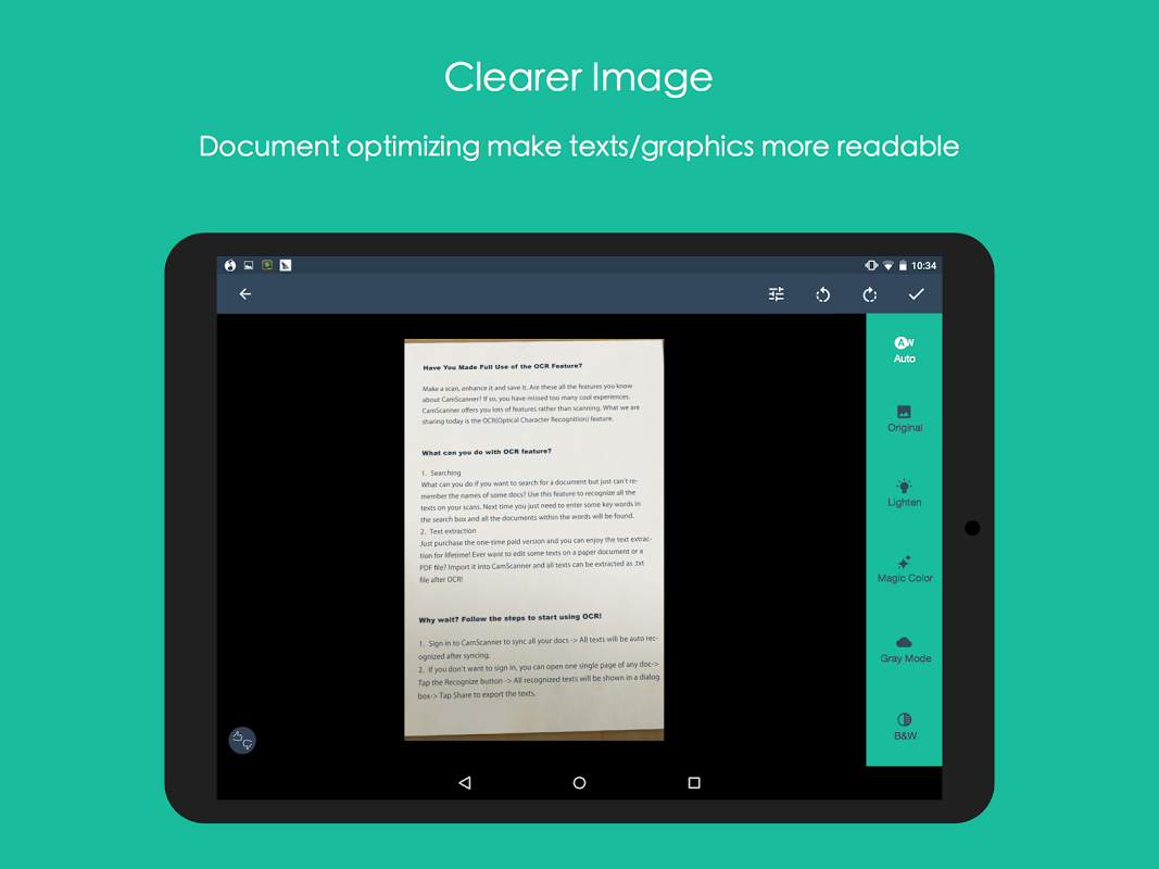 Android CamScanner -Phone PDF Creator Screen 7