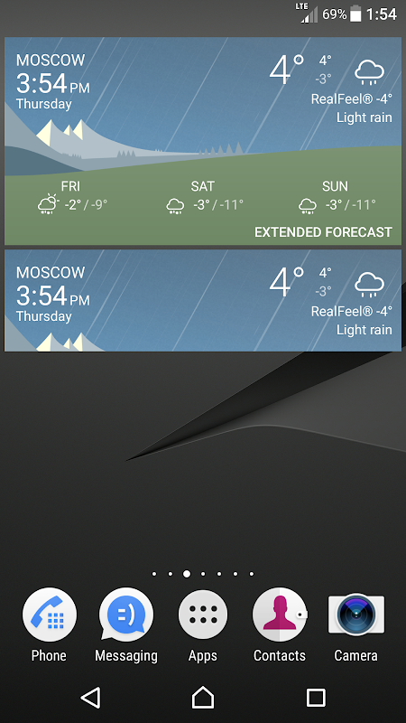 Android Sony Weather Screen 5