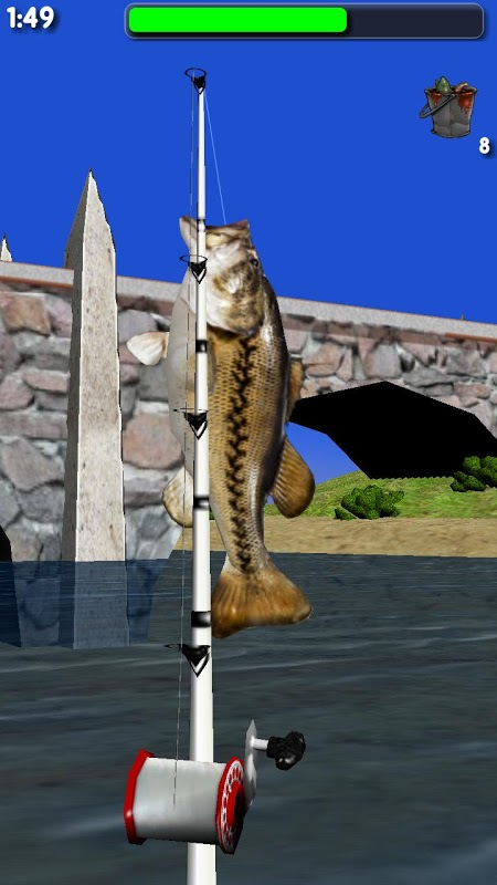 Android Big River Fishing 3D Screen 5