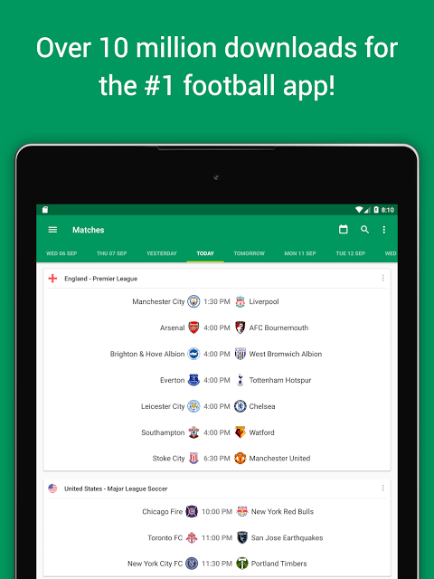 Android FotMob Screen 6