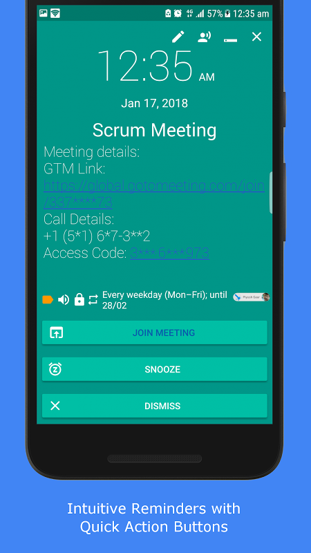 Android Pi Reminder Screen 5