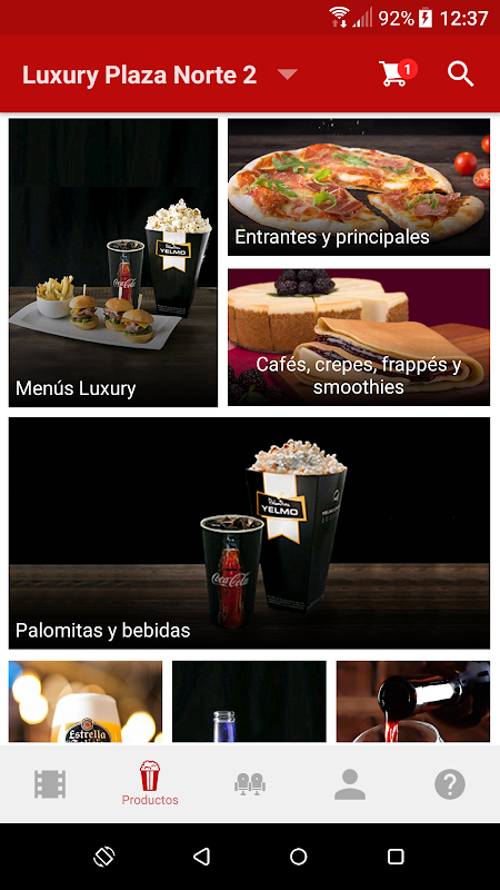 Android Yelmo Cines App Screen 4