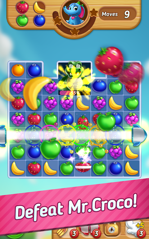 Android Fruits Mania : Elly's travel Screen 3