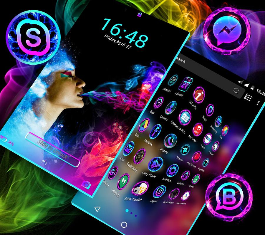 Smoke Colors Launcher Theme 1.4 Screen 3
