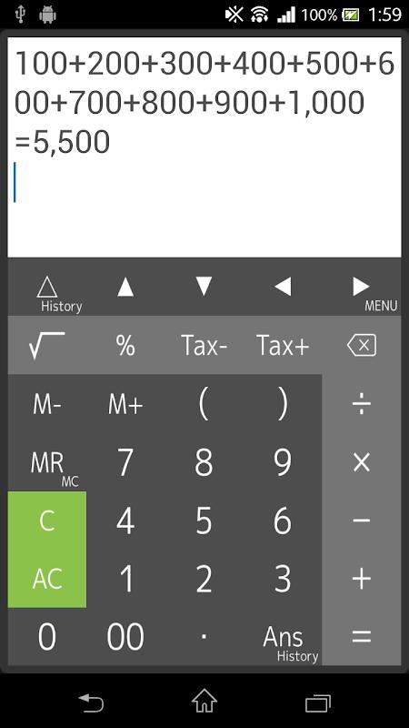 Calculator 4.4.3 Screen 1