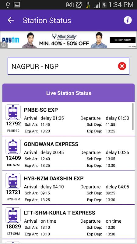 Live Train Status 29.0 Screen 4