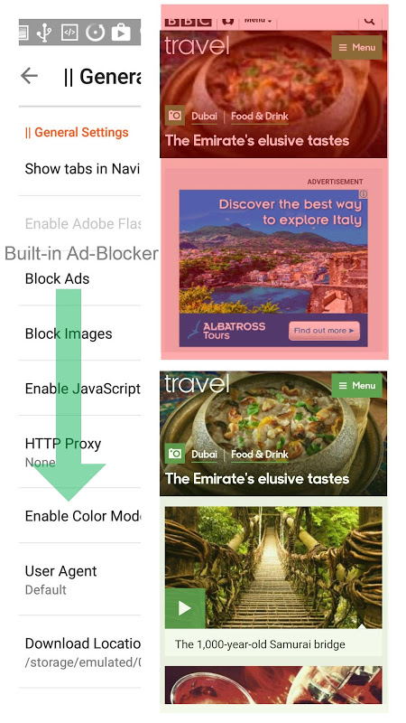 Android Dee Browser - Blocks Ads Screen 10